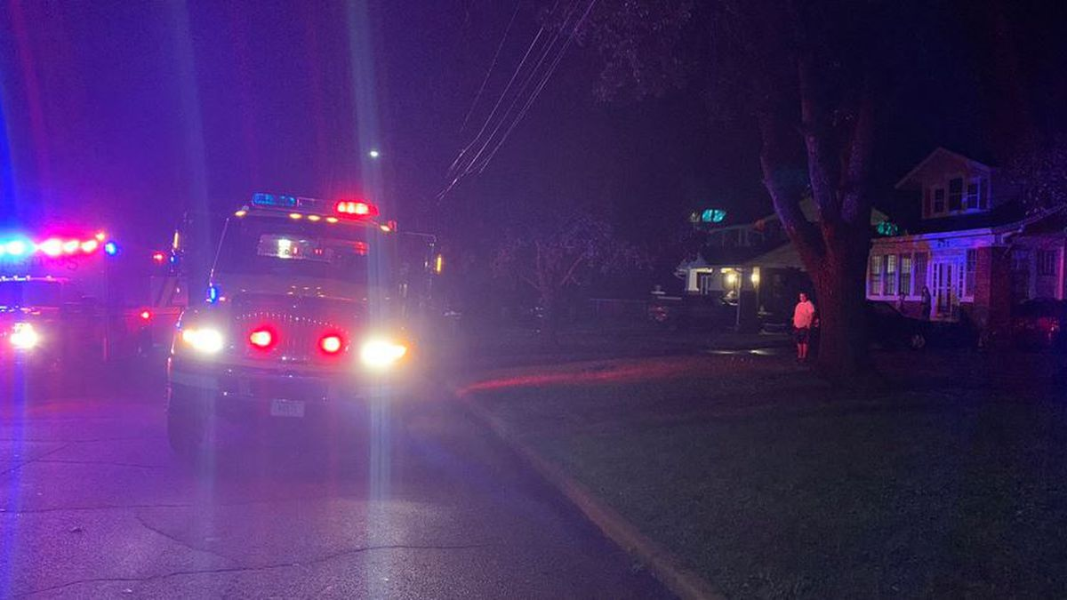 Crews battle a Wednesday night house fire in Hastings