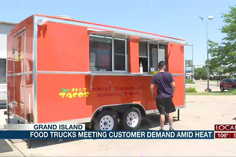 Food trucks meeting customer demand amid heat