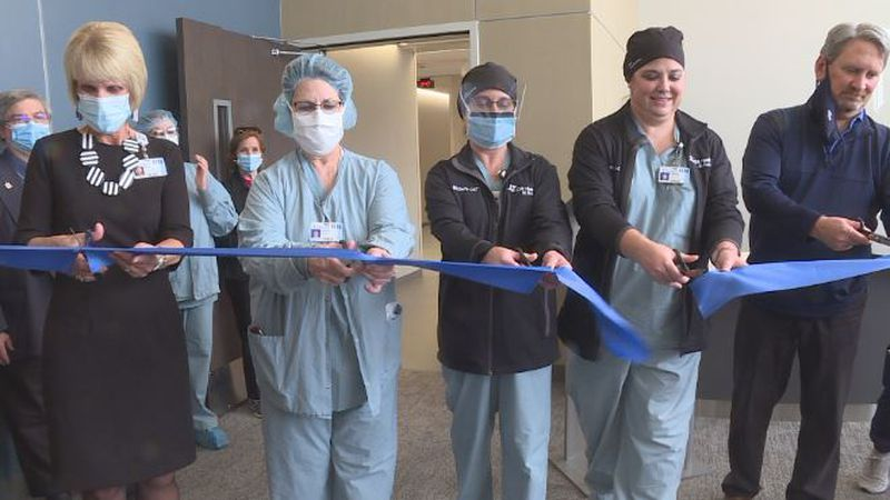 The CHI Health St. Francis Surgery Center staff and board members got together for a ribbon...