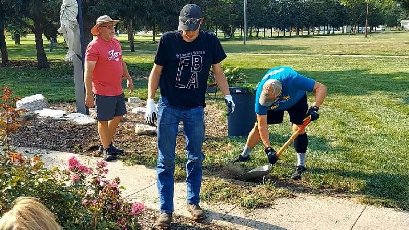 45 volunteers showed up to help 'spruce up' the Good Samaritan Village in Hastings
