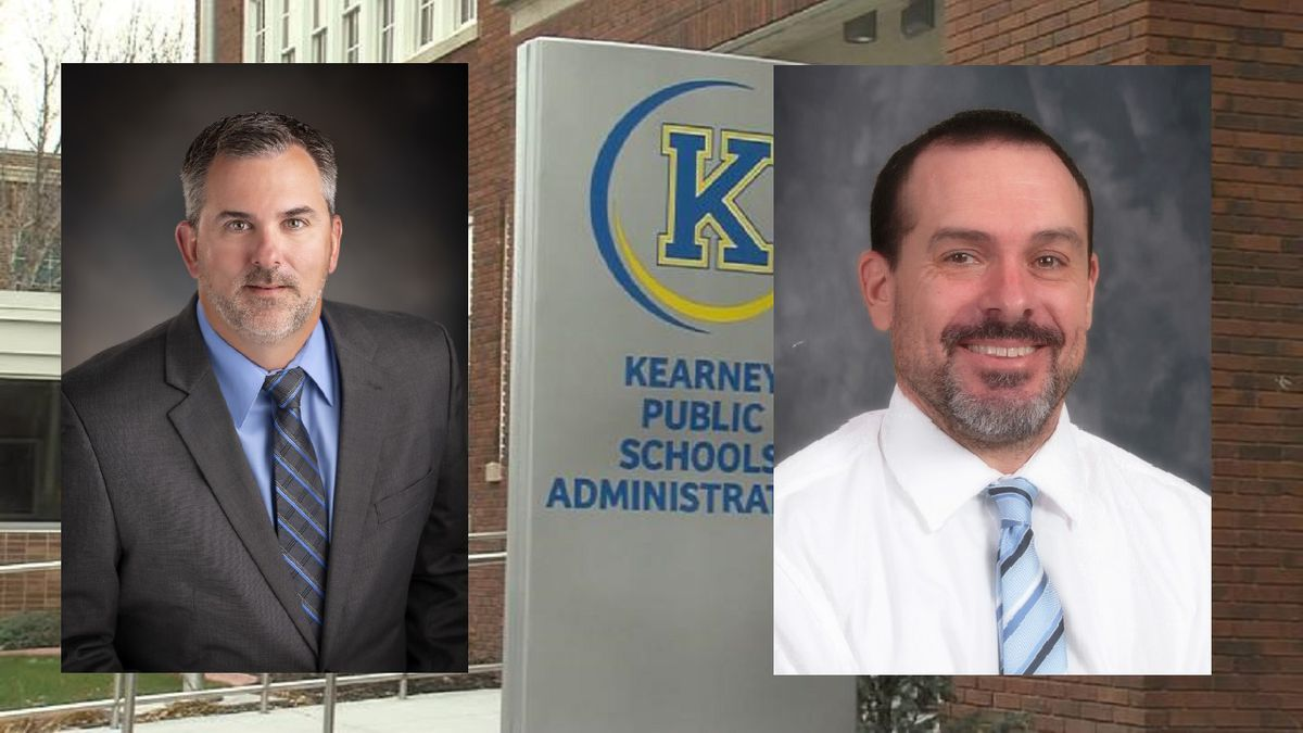 Dr. Chris Loofe (left) and Jeff Ganz will be taking on new roles in the Kearney Public School...