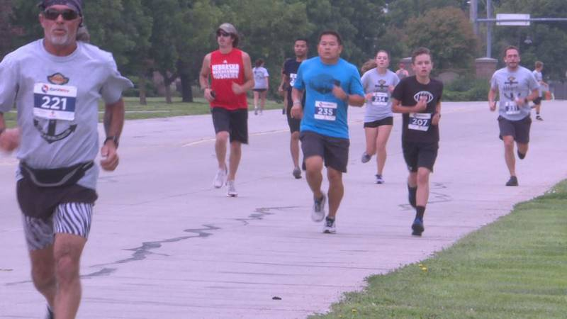 Runners participate in Finish with Hope Family Fun Fun.