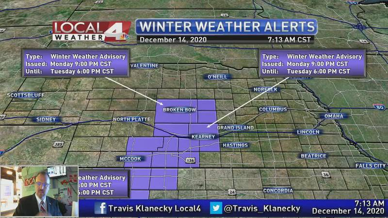 Another round of snow on the way.