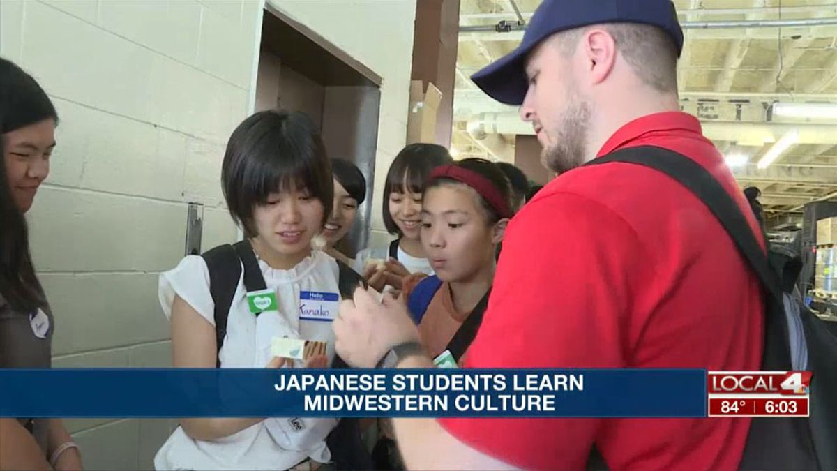 Japanese exchange students tour Pacha Soap Co. in Hastings Monday (Source: Kelsey Dickeson, KSNB)