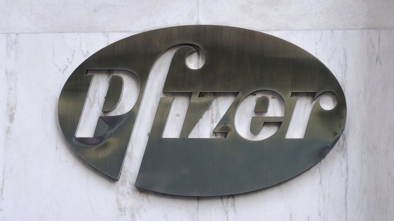 FILE – This photo shows a view of the Pfizer Inc. World Headquarters in Midtown Manhattan, New...
