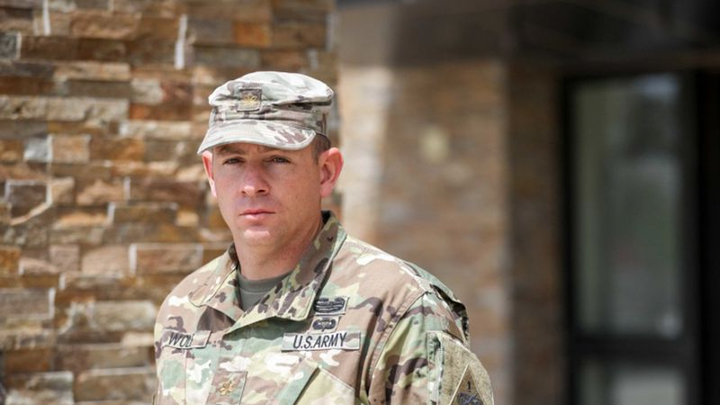 A soldier from Cozad, Nebraska,  is an unexpected hero.<br />Maj. Evan Wolf, specializes in...