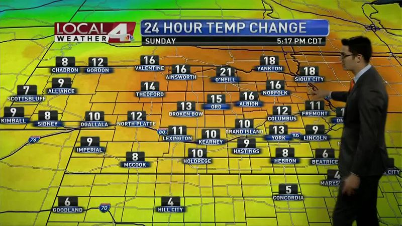 Quiet weather ahead for the state, as high pressure settles into the Central Plains, highs are...