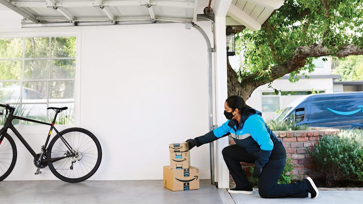 The online retailer says people can choose to allow delivery people to leave their grocery...