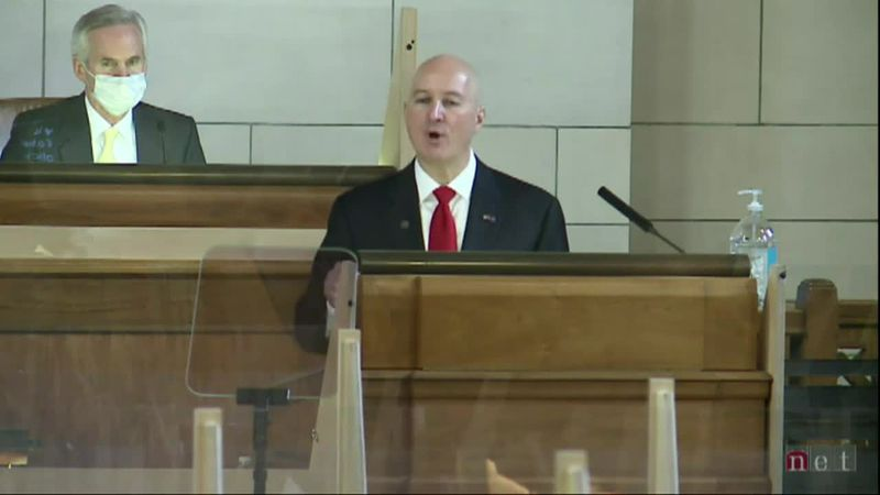 Gov. Pete Ricketts delivers his State of the State Address.