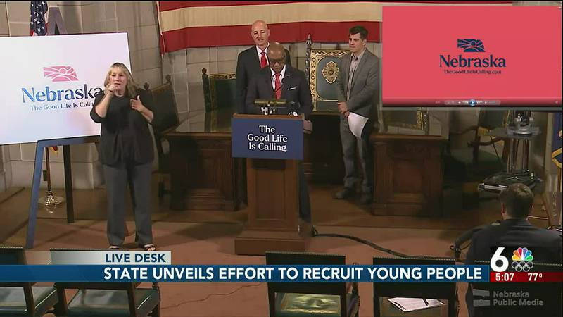 Nebraska unveils effort to recruit young people