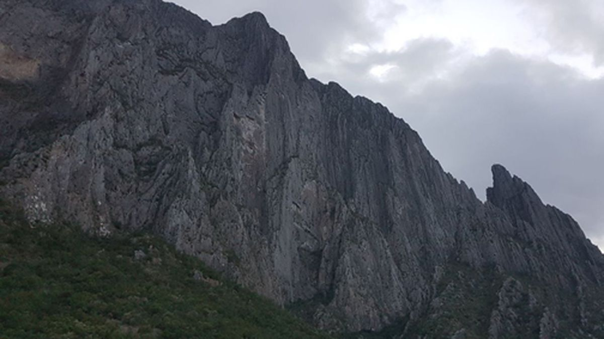 This undated handout photo released by Nuevo Leon State Civil Defense Agency shows the El Potrero Chico peak in Hidalgo, Mexico. California free solo climber Brad Gobright was rappelling down with a companion when he fell to his death on Wednesday, Nov. 27, 2019. (Nuevo Leon State Civil Defense Agency via AP)