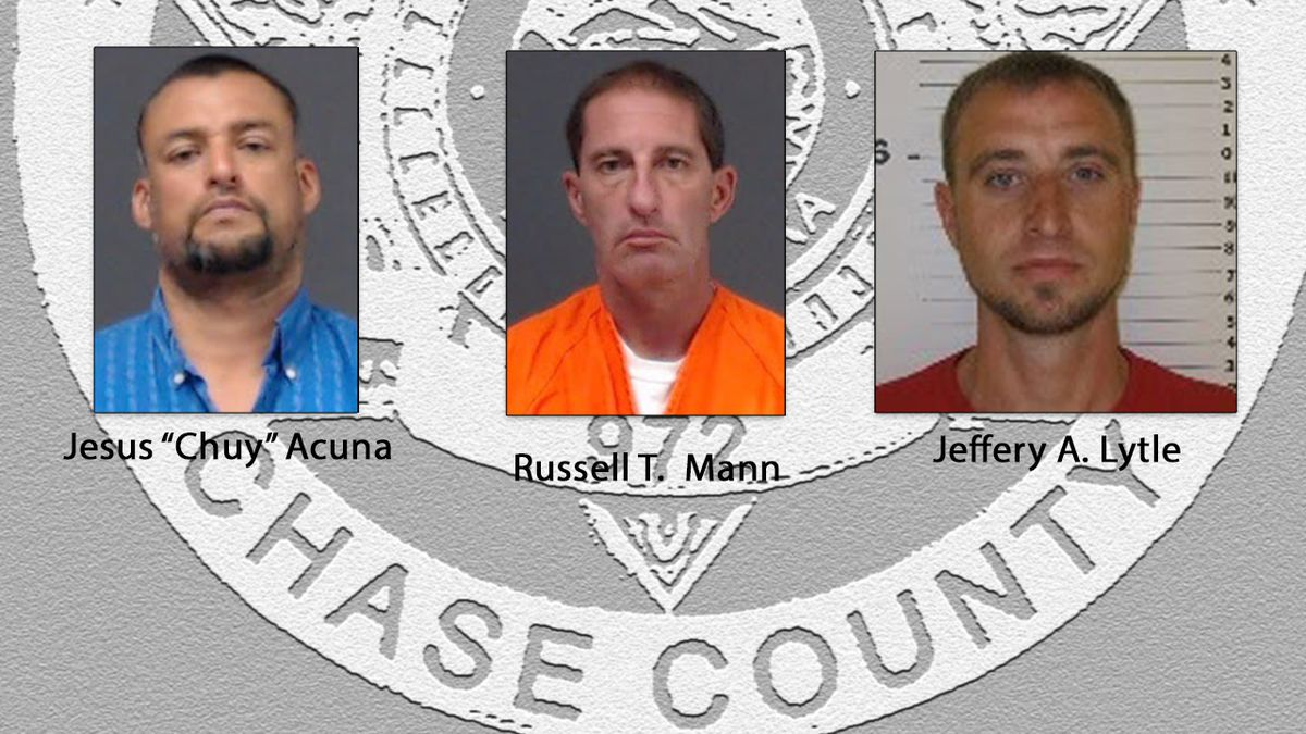 Three arrests in meth investigation by Chase County Sheriff's Office.