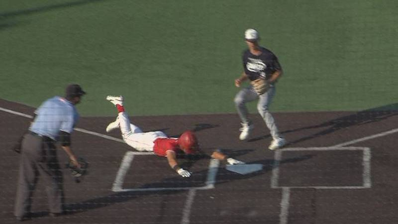 A North Platte player scores in a 10-8 victory over Kearney