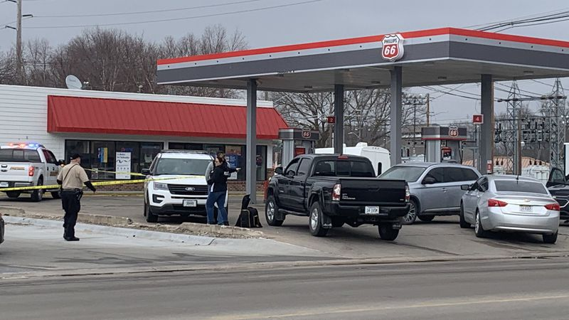 Police on the scene of the shooting in Hastings.