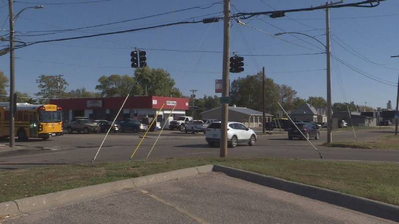 Businesses look at proposed roundabout at South Elm and East South Street.