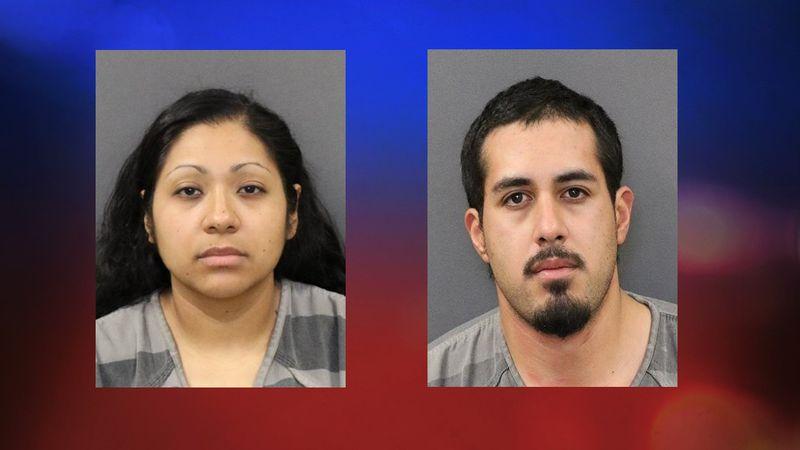 Adriana Veliz and Eduardo Aldaba-Montanez were arrested after Grand Island Police found a large...
