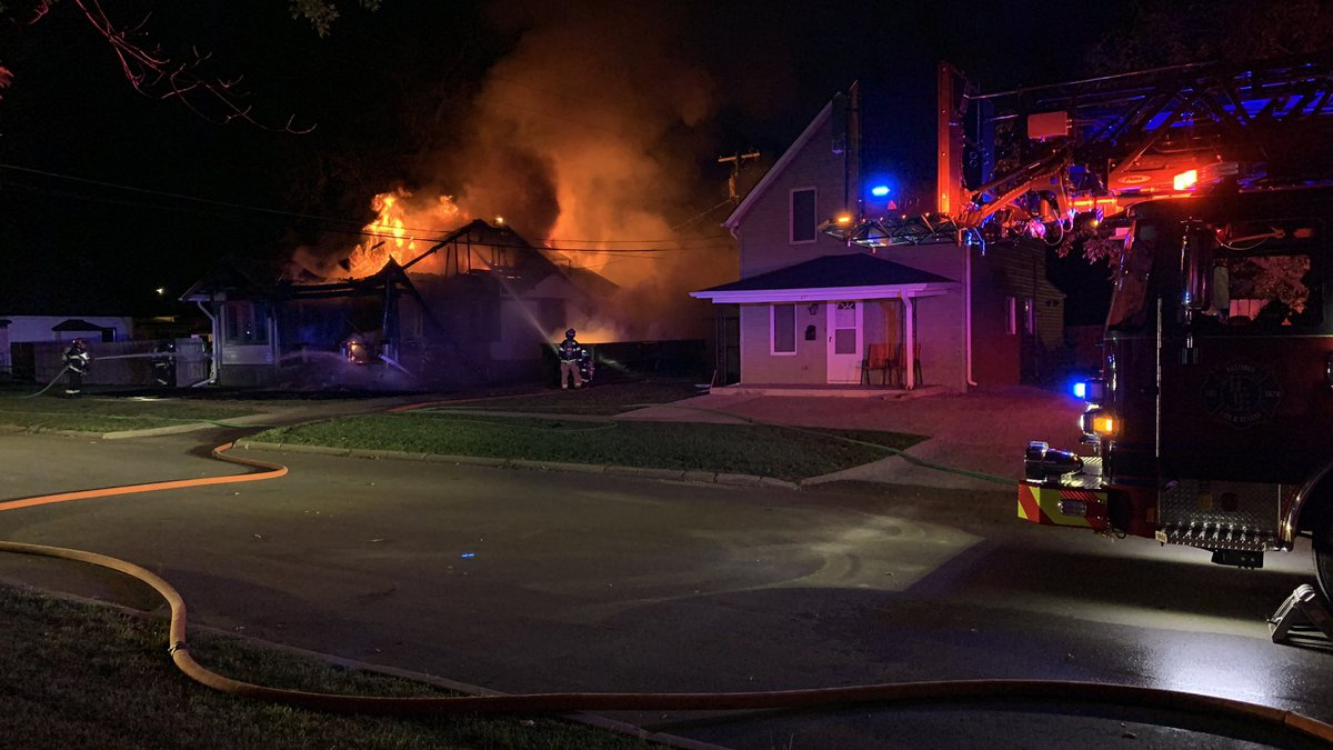 Firefighters fighting a structure fire early Sunday morning in the 300 block of Jefferson...
