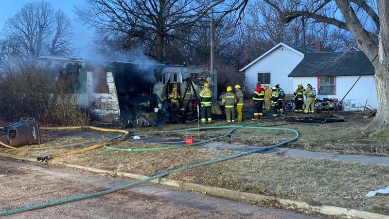 A morning fire in Glenvil destroyed one family's home.