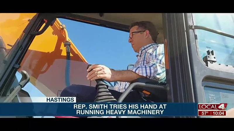The Nebraska congressman got his hands dirty over at CCC in Hastings