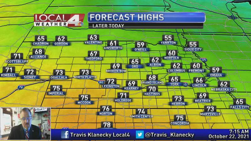 Today may be the nicest day we see for awhile.
