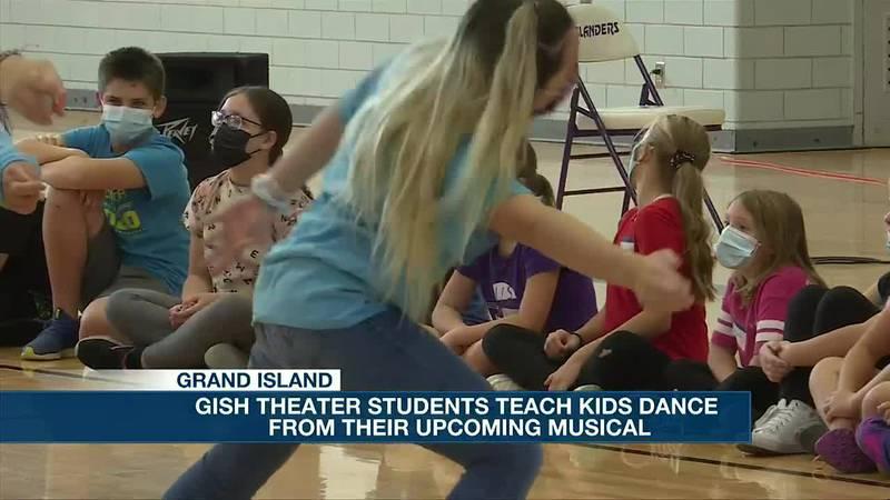 GISH theater students help teach third through eighth graders a dance from their musical
