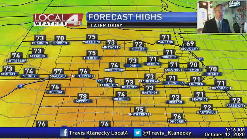 Cooler weather is here, but a couple of really nice days ahead.