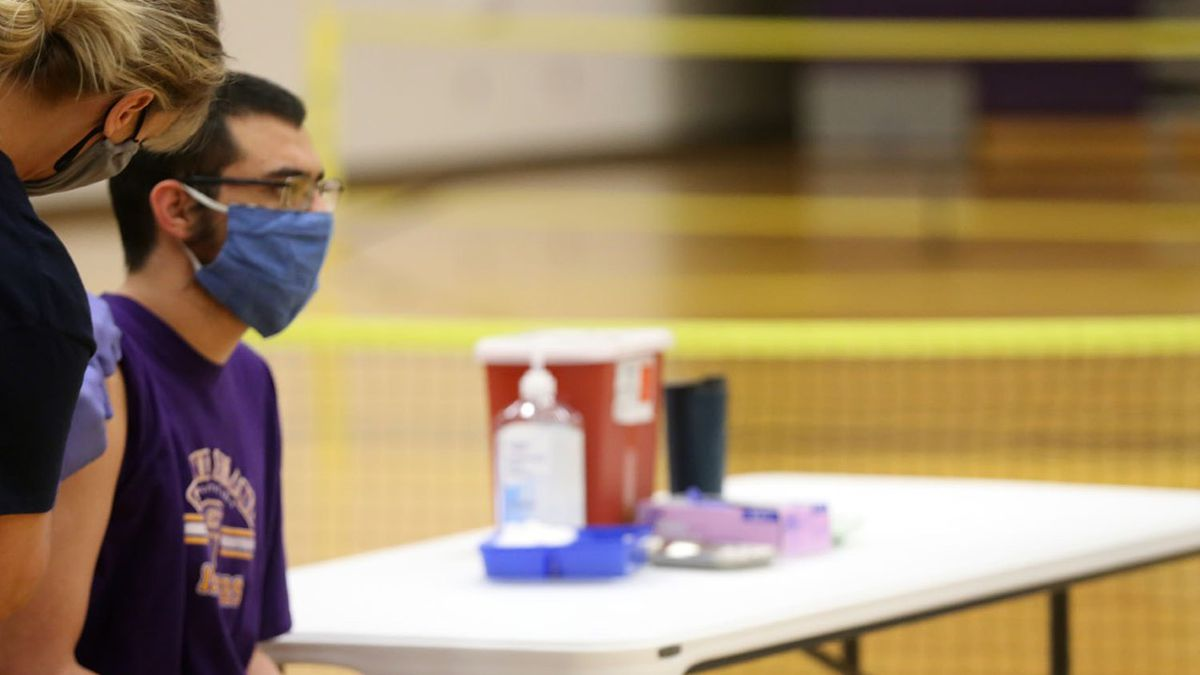 A Grand Island Senior High student was among more than 80 who received their shot of the Pfizer...