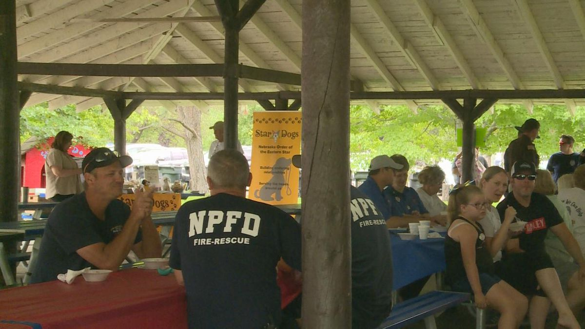 Nothing beats something sweet on a hot day, and the Order of the Eastern Star has it covered. The order hosted an ice cream social on Saturday to thank first responders in the North Platte community, including firefighters and police officers. (Source: Erika Siebring/KNOP TV)