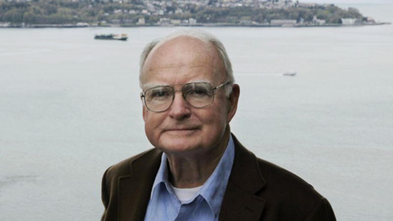 William Ruckelshaus, the first administrator of the EPA, poses for photos on Monday, April 13,...