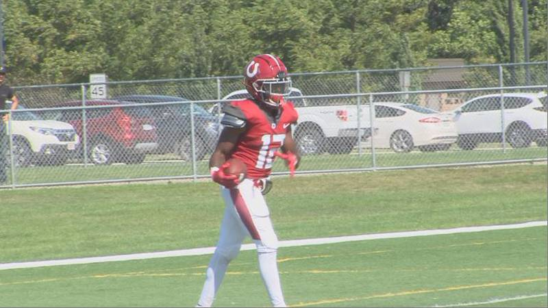 Hastings College WR Courtney Lane.