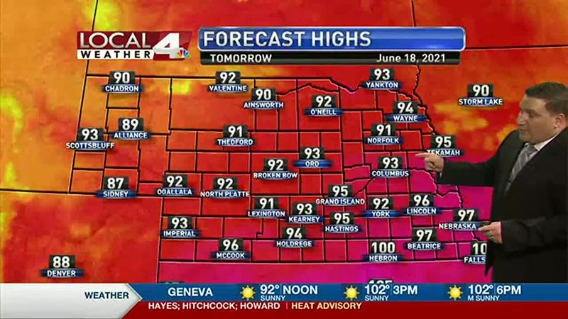 Record breaking heat expected into Thursday afternoon.
