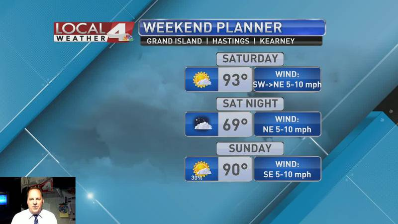 Warm overnight tonight with increasing cloud coverage into Saturday
