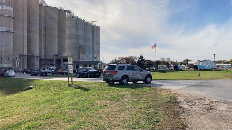 Law enforcement officers are investigating a deadly shooting at the Agrex elevator in Superior.
