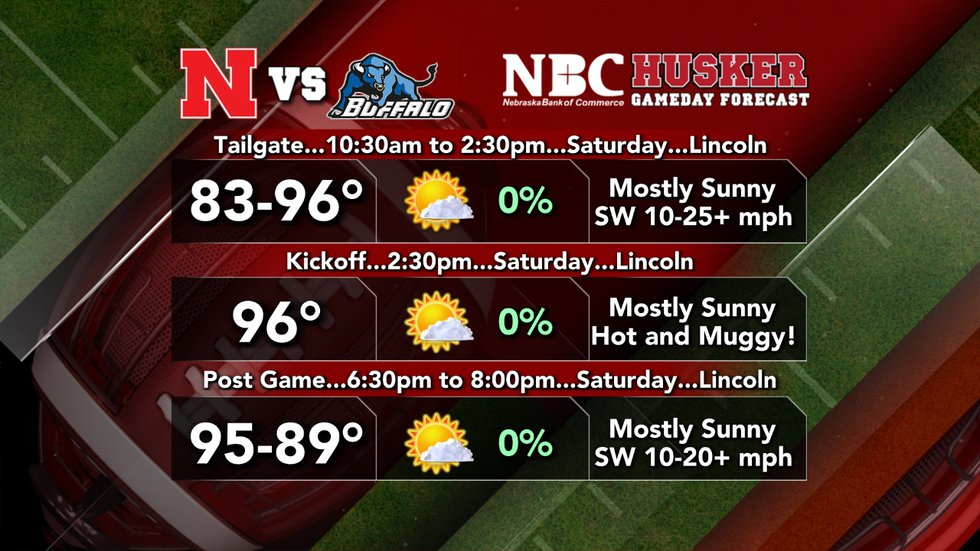Husker Gameday is expected to be a hot one.