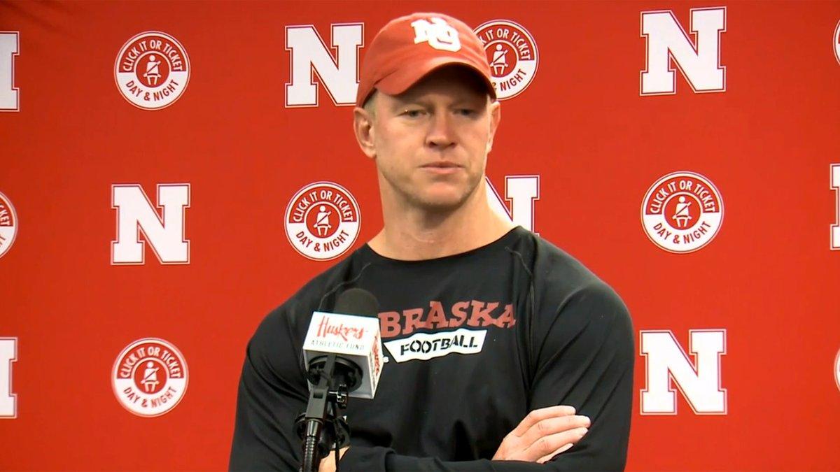 Nebraska Head Football Coach Scott Frost