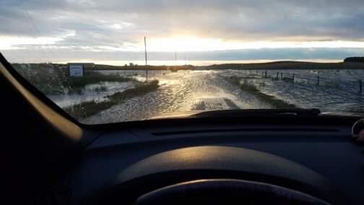 A view from behind the wheel for many who travel Highway 83 near the Valentine National Wildlife Refuge in Cherry County. (SOURCE: T. J. Winchell).