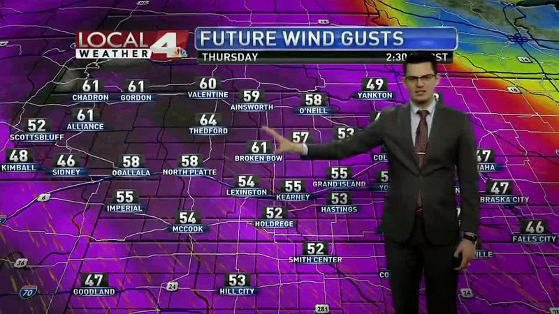 High winds will be an issue over the next couple days, with gusts exceeding 60mph several...