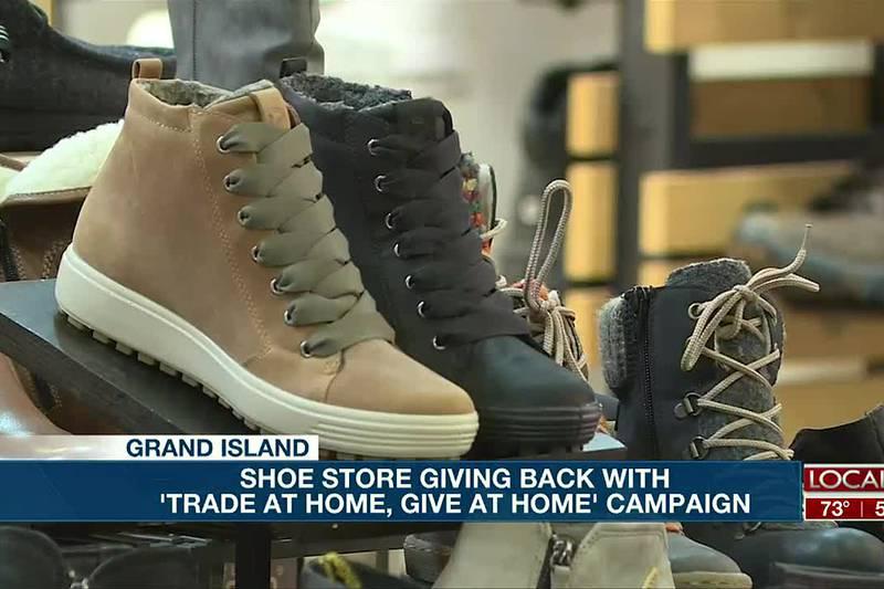 Grand Island Shoe Store giving back