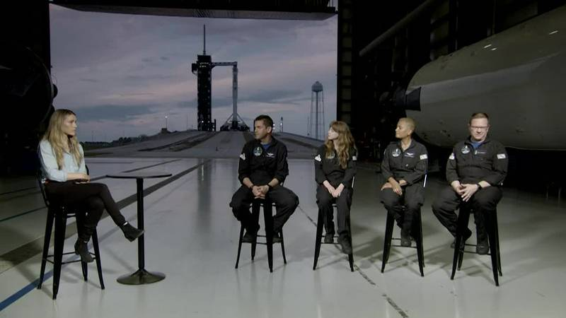 SpaceX launches with first all-civilian crew.