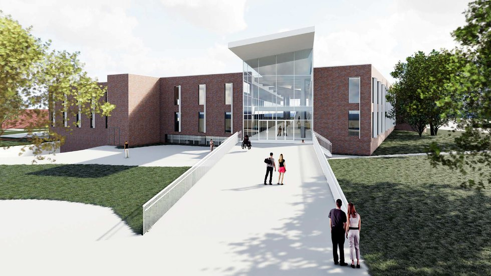 A proposed renovation project would make UNK's Calvin T. Ryan Library more accessible and...