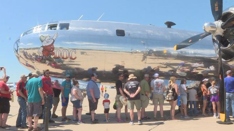 The Nebraska State Fly In & Air Show ended with WWII B-29 bomber tours.