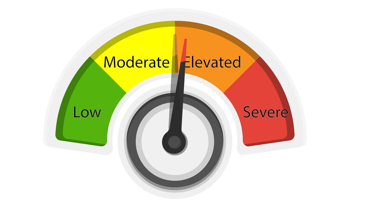 The COVID-19 Risk Dial for the South Heartland District has crossed into the elevated (orange) category.