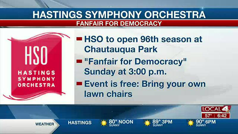 """Hastings Symphony Orchestra to perform """"Fanfair for Democracy"""" concert at Chautauqua Park."""