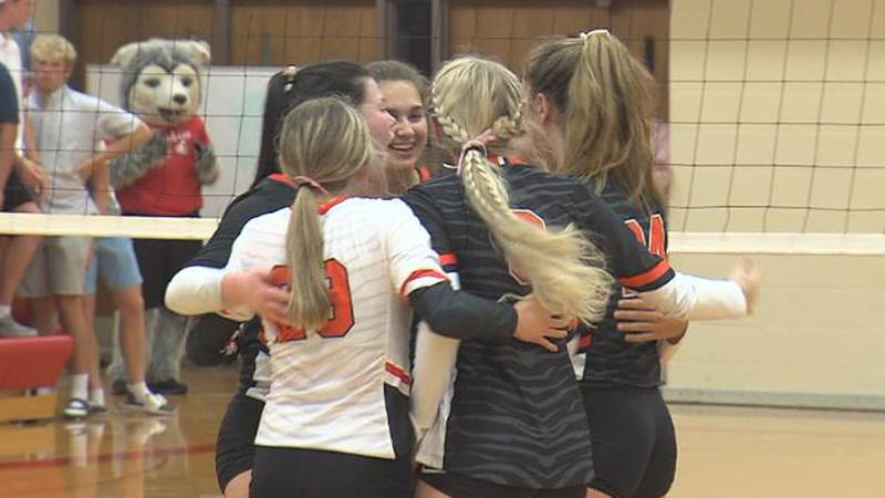 Hastings celebrates a point scored against Aurora
