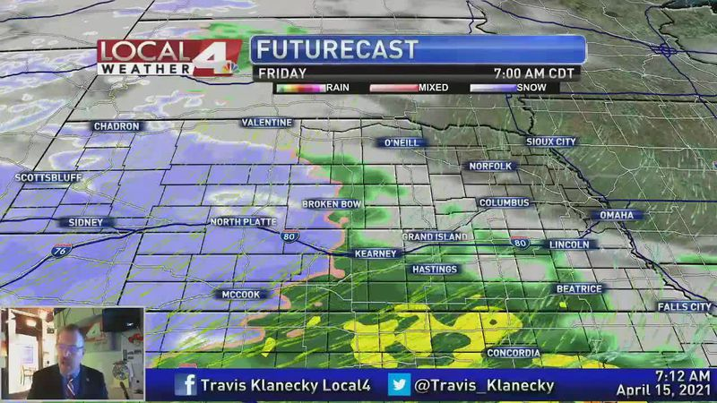 Moisture arrives as the week comes to an end.