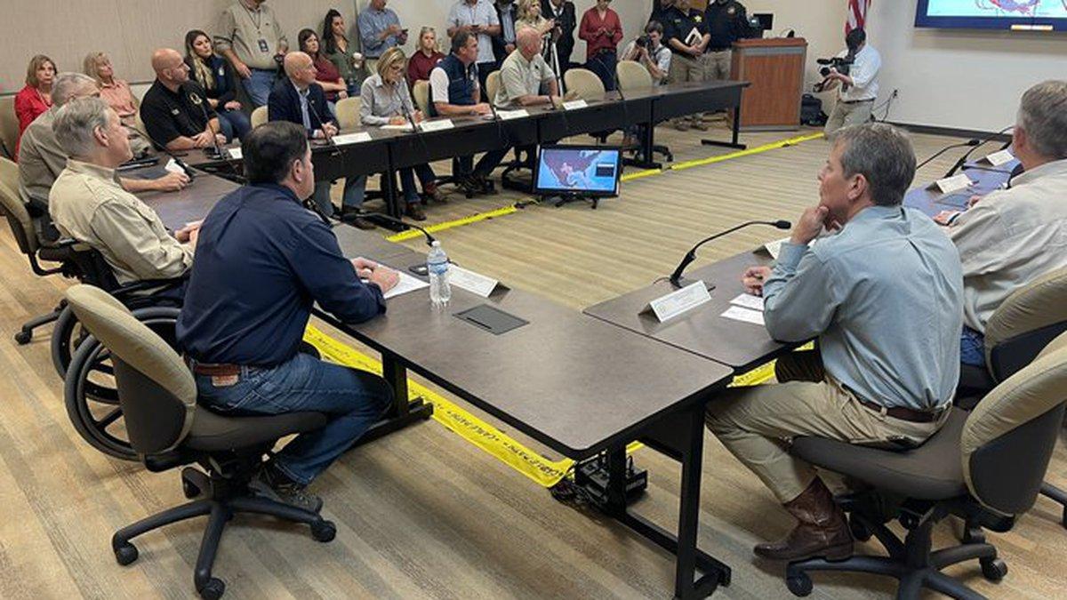 Republican governors including Nebraska Gov. Pete Ricketts and Iowa Gov. Kim Reynolds met...