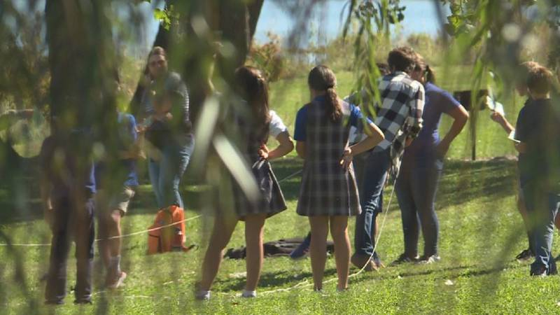 Around 150 fifth and sixth graders spent their Wednesday at Liberty Cove Recreation Area for...