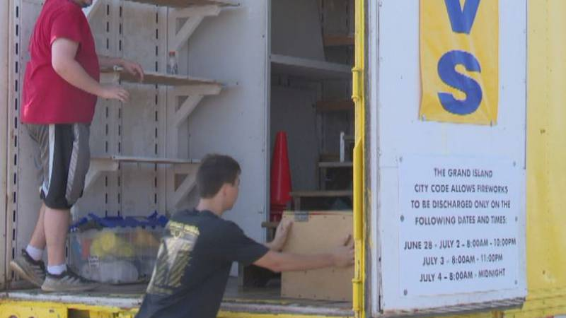Marv's Fireworks closes trailer after a record week of sales.